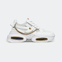 Женские белые кроссовки на платформе Fashion BK28