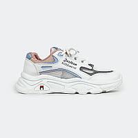 Модные женские кроссовки белые Fashion 111