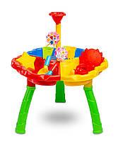 Игровой столик для песка и воды Caretero Bali Разноцветный с лопаткой и граблями + 5 игрушек