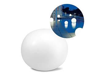Светодиодная декоративная подсветка, фонарь Intex 68695 «Глобус» надувной, плавающий, новый.  Работает от