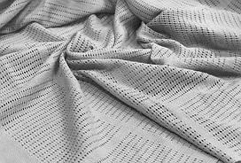Відріз Філейної полотна сірого  (для пледів і покривал) 55х240 см
