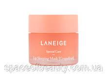 Laneige - Lip Sleeping Mask - Grapefruit - Интенсивно регенерирующая маска для губ с ароматом грейпфрута
