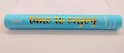 Пневматична хлопавка блакитна поворотна з золотим золотий конфетті 40 см