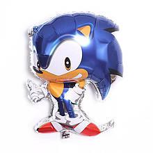 Воздушный шар фигура ежик соник Soniс мультфильм 70* 50 см