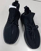 Женские кроссовки черные сетка