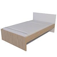 Ліжко Х-Скаут Х-12 (120*200) білий мат/дуб без ламелей