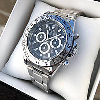 Мужские серебряные наручные часы Rolex / Ролекс