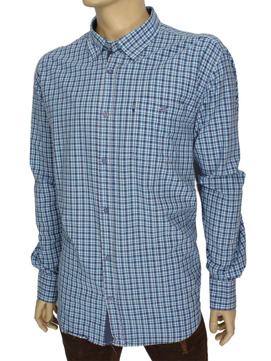 Чоловіча сорочка бавовняна Desibel 0310 NDI 04 в клітку
