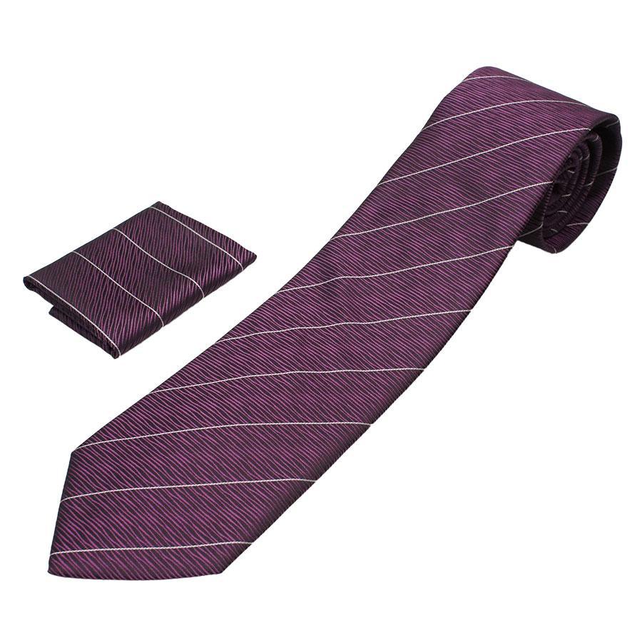 Мужской фиолетовый галстук Pierre Cavelli CPCompo-lilac2