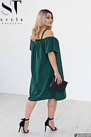 Стильное легкое платье свободного кроя на бретелях с 50 по 60 размер, фото 6