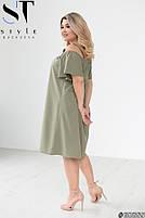 Стильное легкое платье свободного кроя на бретелях с 50 по 60 размер, фото 10