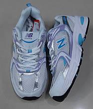 Жіночі білі кросівки New Balance сітка