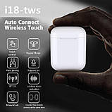 Бездротові навушники i18 TWS в стилі Apple AirPods сенсорні блютуз навушники, фото 3