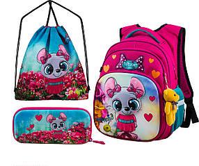 Рюкзак шкільний для дівчаток Winner One R3-221 Full Set