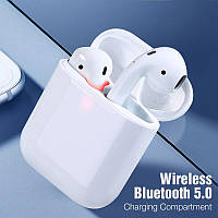 Беспроводные наушники i18 TWS в стиле Apple AirPods сенсорные блютуз наушники