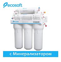 Фильтр обратного осмоса Ecosoft Standard 6-50 с минерализатором MO650MECOSTD, бытовой питьевой фильтр для воды
