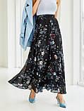 Шифоновая юбка-макси с цветочным принтом  ЛЕТО, фото 2