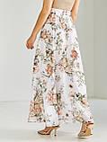 Шифоновая юбка-макси с цветочным принтом  ЛЕТО, фото 6