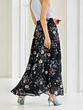 Шифоновая юбка-макси с цветочным принтом  ЛЕТО, фото 3