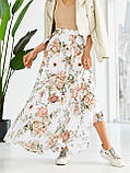 Шифоновая юбка-макси с цветочным принтом  ЛЕТО, фото 4