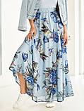 Шифоновая юбка-макси с цветочным принтом  ЛЕТО, фото 9