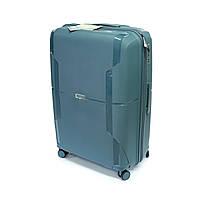Противоударный дорожный чемодан Airtex большой 105 л из полипропилена Jupiter 245 синий, фото 1