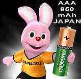Аккумулятор DURACELL Recharge AAA/(HR03) 850mAh Ni-Mh 1.2v Мини-пальчиковая батарейка в Блистере, 4ШТ, фото 5