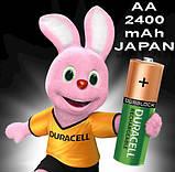 Аккумулятор DURACELL Recharge AA/(HR6) 2400mAh Ni-Mh 1.2v Пальчиковая батарейка в Блистере, 4ШТ, фото 5
