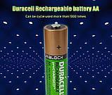 Аккумулятор DURACELL Recharge AA/(HR6) 2400mAh Ni-Mh 1.2v Пальчиковая батарейка в Блистере, 4ШТ, фото 6