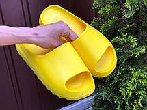 Шлепанцы женские Adidas Yeezy Slide, желтые, фото 2