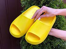 Шлепанцы женские Adidas Yeezy Slide, желтые, фото 3