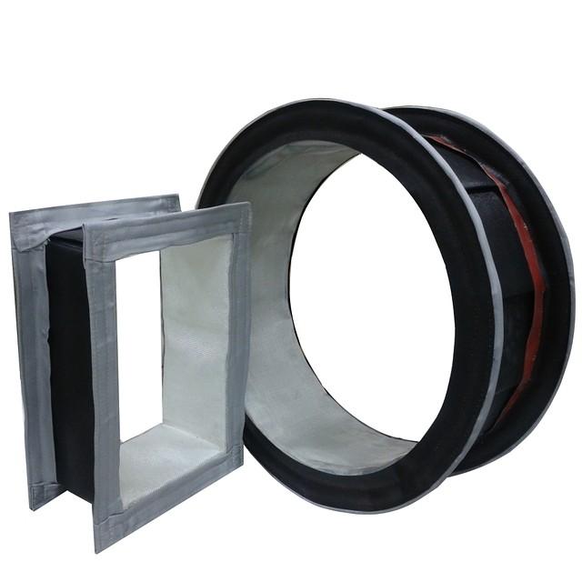 Фланцевые тканевые компенсаторы (гибкие вставки)