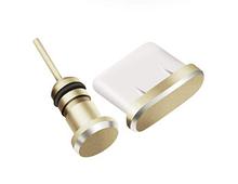 Заглушки от пыли для телефона Type C 3,5 мм Золотой