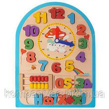 Розвиваюча дерев'яна іграшка Годинник MD 1050