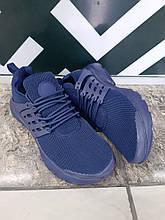 Женские кроссовки синие сетка