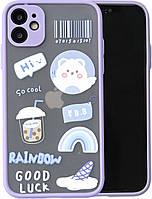"""Силиконовый ударопрочный чехол для iPhone 11 """"Rainbow"""" (8CASE)"""
