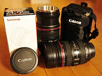 Чашка термос объектив Canon 24-70mm Zoom кружка