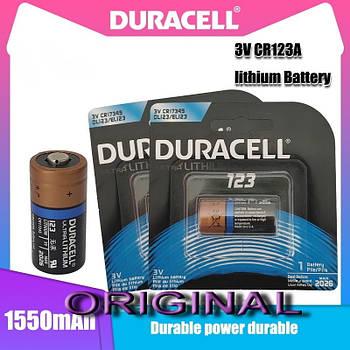 Батарея DURACELL Ultra Lithium CR123, CR17345, 16340 1550mAh (Не заряжаемая литиевая батарейка / до 2026 года)