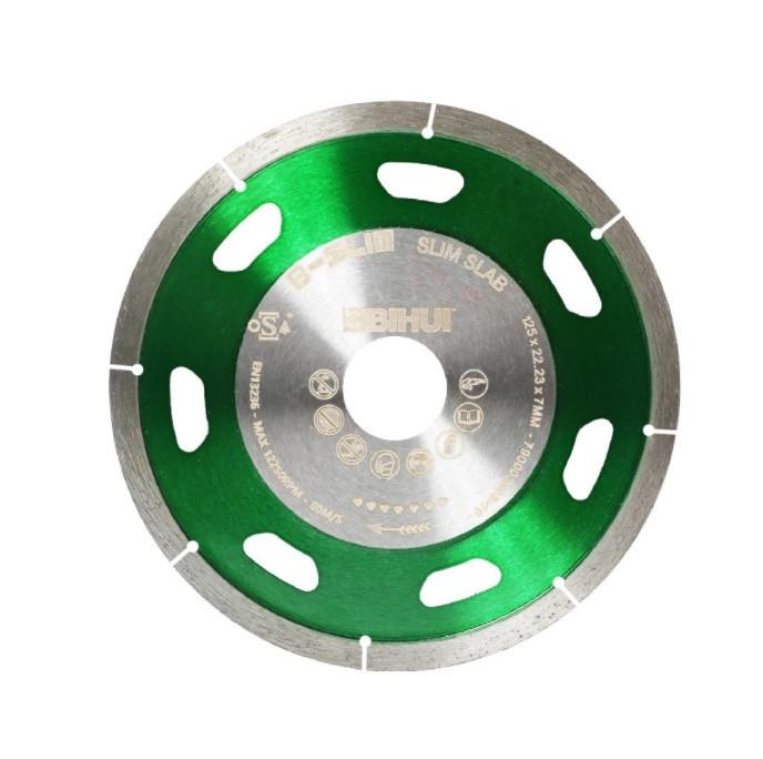 Диск алмазний BIHUI B-SLIM посилений, 125*22,23*7*1,1 DCDS125 (зелений)