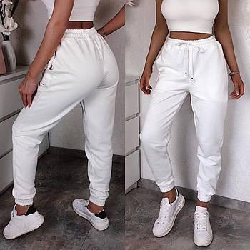 Жіночі весняні спортивні штани двунітка сірий лаванда капучіно чорний білий 42-44 44-46 48-50