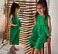 """Дитячий підлітковий літній костюм для дівчинки 134 """"Льон Баска Кюлоти"""" в кольорах, фото 5"""