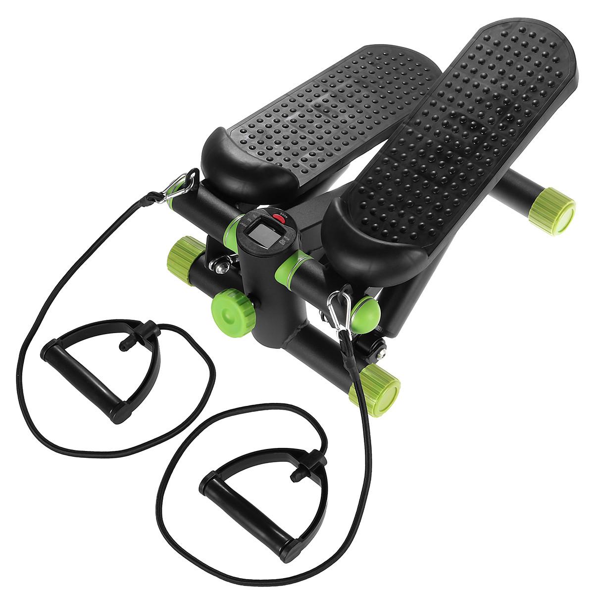 Степпер з еспандером SportVida SV-HK0357 Black/Green
