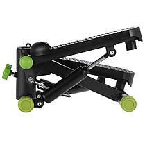 Степпер з еспандером SportVida SV-HK0357 Black/Green, фото 2