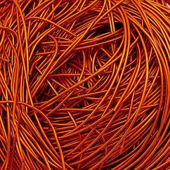 Канитель Гладкая, Цвет: Оранжевый, Диаметр 1мм, Отрезки не Менее 15см, около 650см/10г, 10 г
