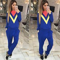 Костюм женский  стильный, синий, 505-711-71