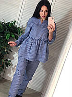 Костюм женский  стильный, синий, 505-711-72