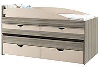 Двоярусне ліжко Світ Меблів Савана New + внесок 80х190 дуб крафт сірий/льон(блакитна лагуна)