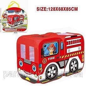 Детская игровая палатка автобус M5783 полиция/пожарная служба (Красный)