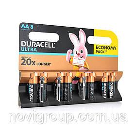 Батарейка лужна DURACELL LR06 (АА) KPD ULTRA, 8шт в блістері, ціна за блістер