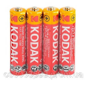 Сольова Батарейка KODAK Super Heavy Duty R3, ААА, 4шт в ѕһгіпкі, ціна за shrink